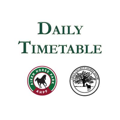 When Do I Go? Aiken Charity Horse Show Timetable.